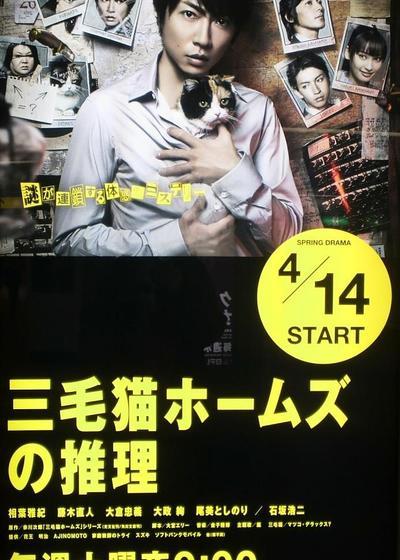 三花猫福尔摩斯的推理海报