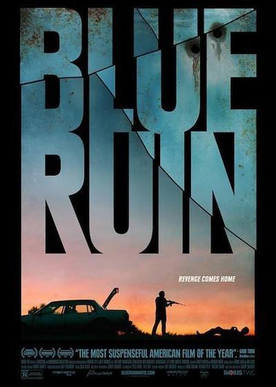蓝色废墟海报