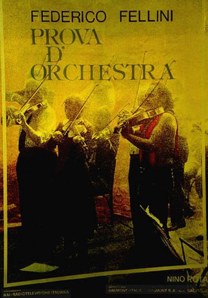 管弦乐队的彩排
