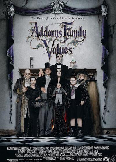 亚当斯一家的价值观海报
