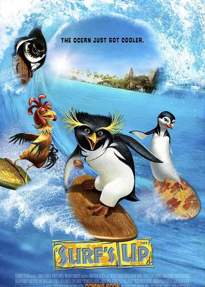 冲浪企鹅海报