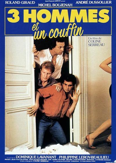 三个男人和一个摇篮海报