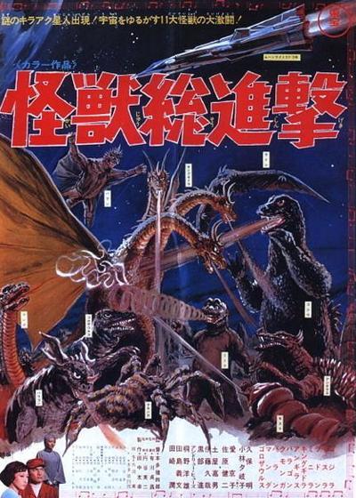 战龙哥斯拉之怪兽总进击海报