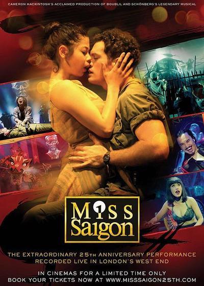 西贡小姐:二十五周年表演海报