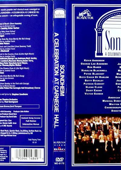 Sondheim卡耐基音乐大厅庆祝音乐会海报