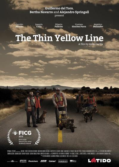 细细的黄线海报