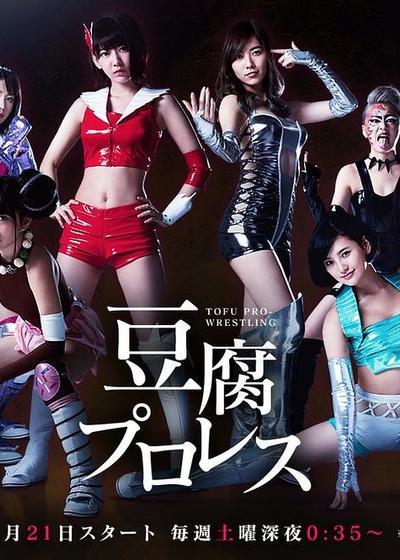 豆腐职业摔角海报