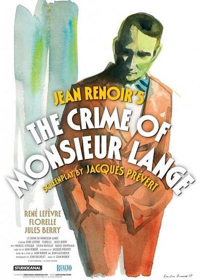 兰基先生的罪行海报