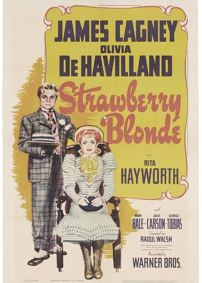 草莓金发海报