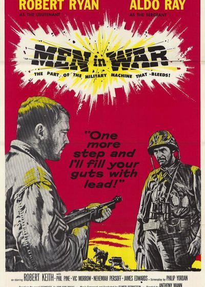 战争中的男人海报