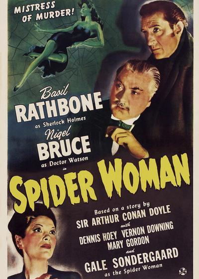 福尔摩斯和蜘蛛女海报