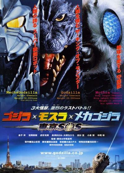 哥斯拉X摩斯拉X机械哥斯拉:东京SOS海报