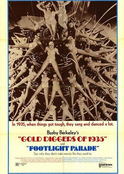 1935年淘金女郎海报