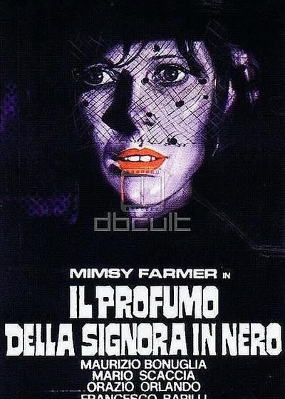 黑衣女人的香水海报