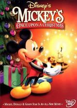 米老鼠温馨圣诞海报