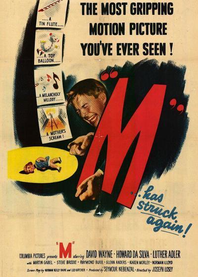 M就是凶手海报