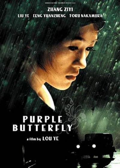 紫蝴蝶海报
