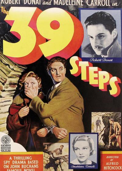 三十九级台阶海报