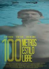 百米自由泳海报