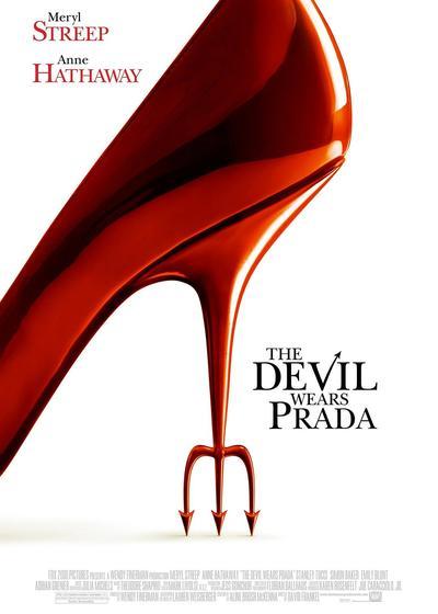 穿普拉达的女王海报