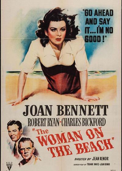 海滩上的女人海报