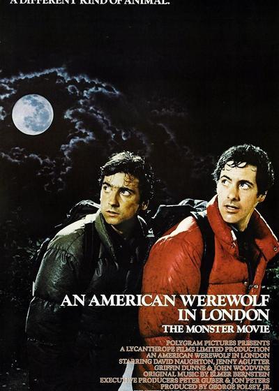 美国狼人在伦敦海报