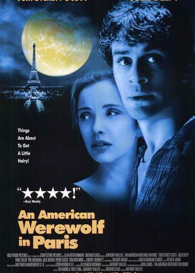美国狼人在巴黎海报