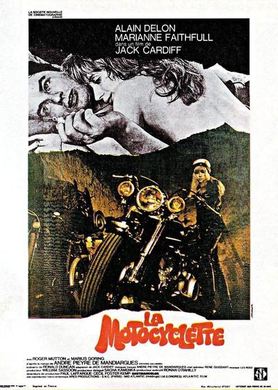 摩托车上的女孩海报