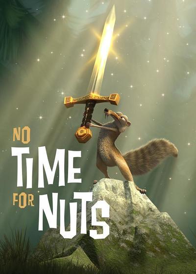 松鼠,坚果和时间机器海报