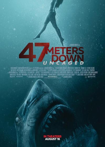 鲨海逃生海报