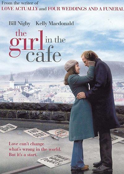 咖啡馆里的女孩海报