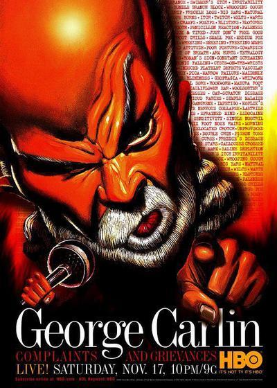 乔治·卡林:抱怨与牢骚海报