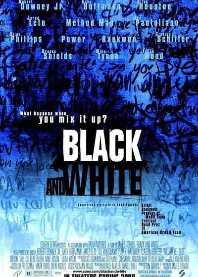 黑与白海报
